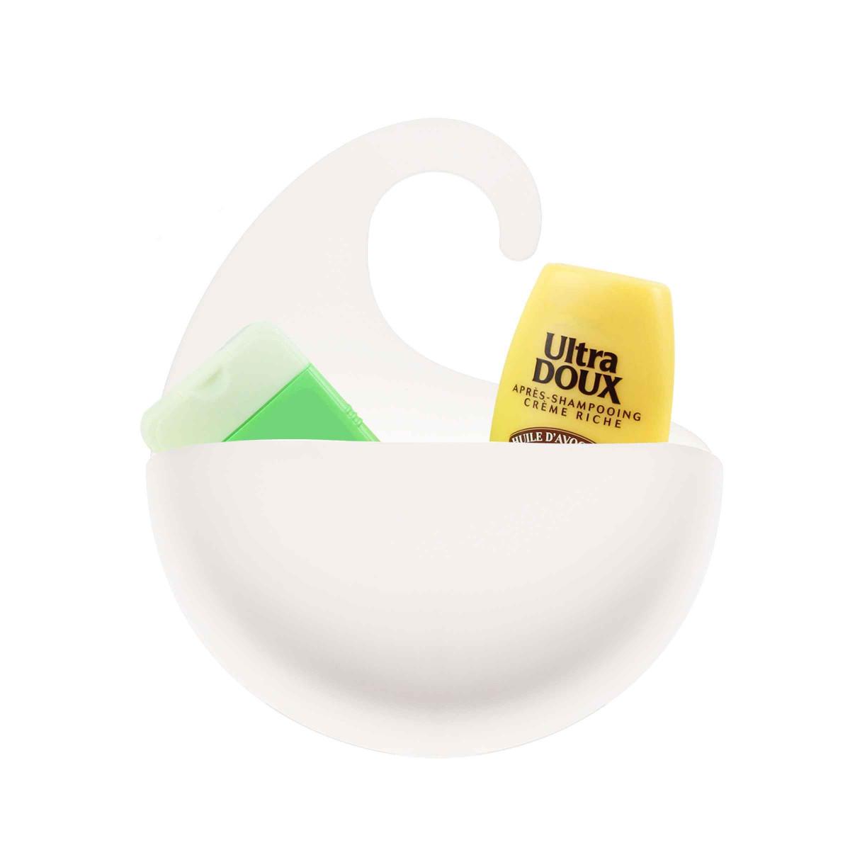 Bac de rangement blanc salle de bain for Rangement pour salle de bain