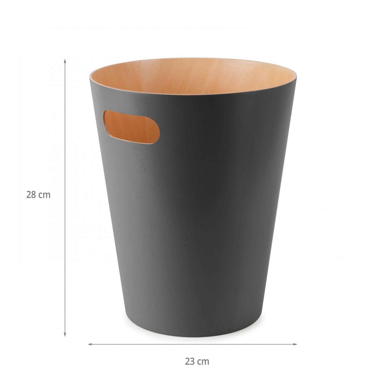 Corbeille papier grise bois for Corbeille en bois flotte