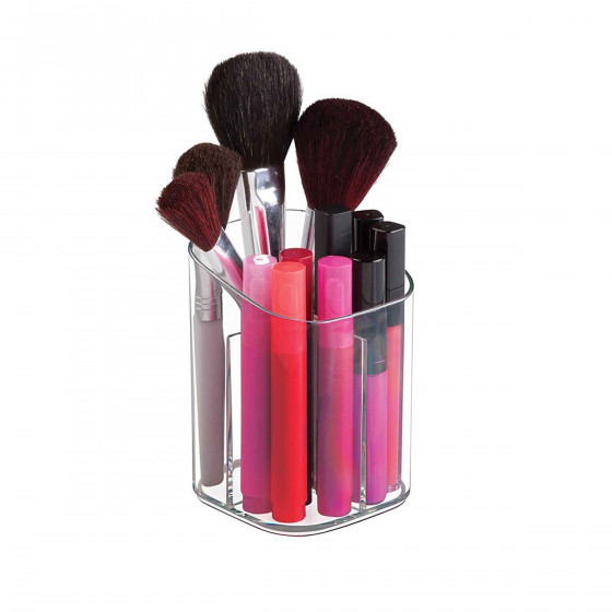 Pot à pinceaux et maquillage en acrylique