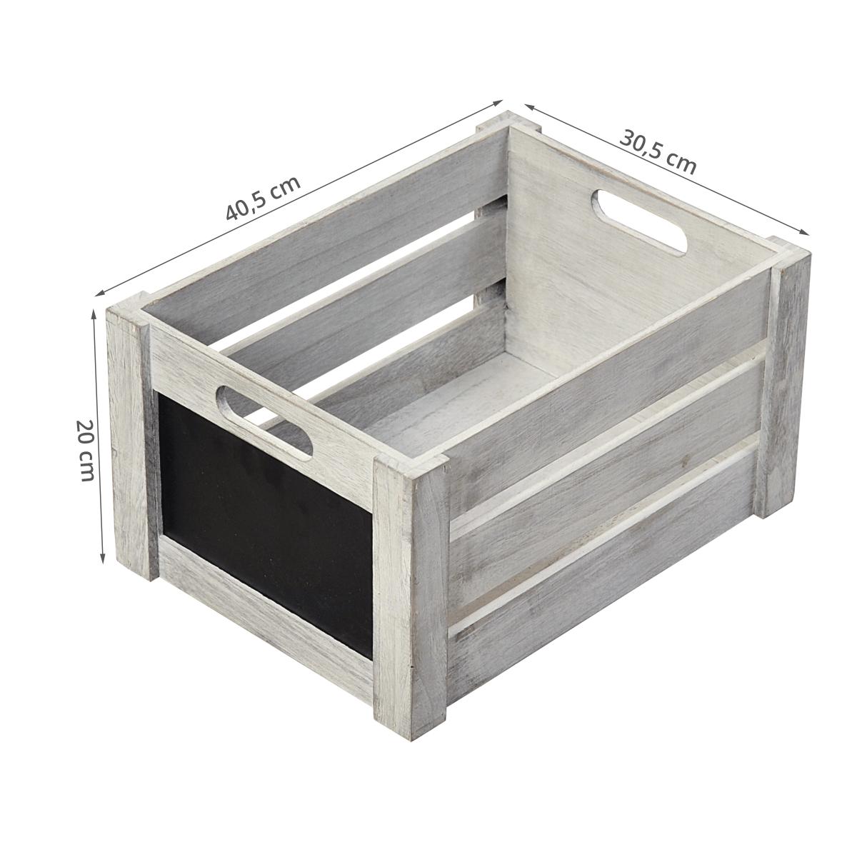 caisse en bois avec ardoise rangement. Black Bedroom Furniture Sets. Home Design Ideas