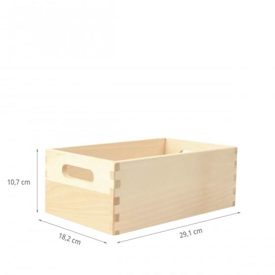 bac de rangement en bois 29x18x11. Black Bedroom Furniture Sets. Home Design Ideas