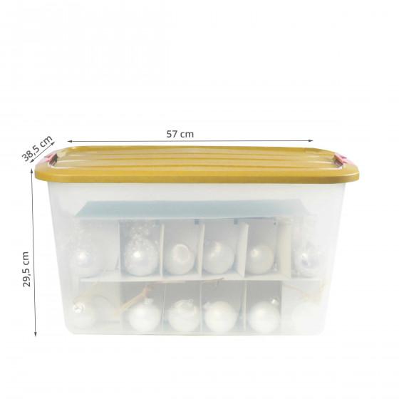 Boîte de rangement pour décorations de noël