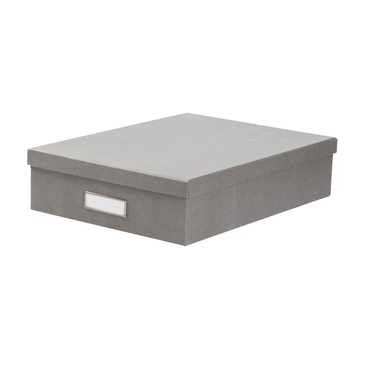 bo te a3 en carton gris clair classement. Black Bedroom Furniture Sets. Home Design Ideas