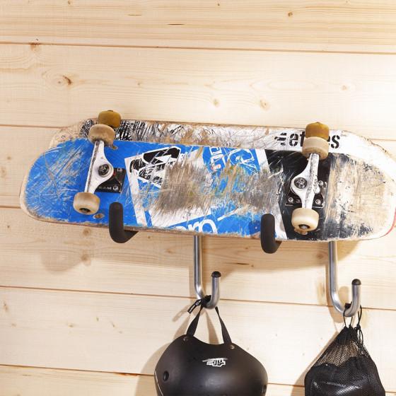 Crochet de rangement pour skateboard