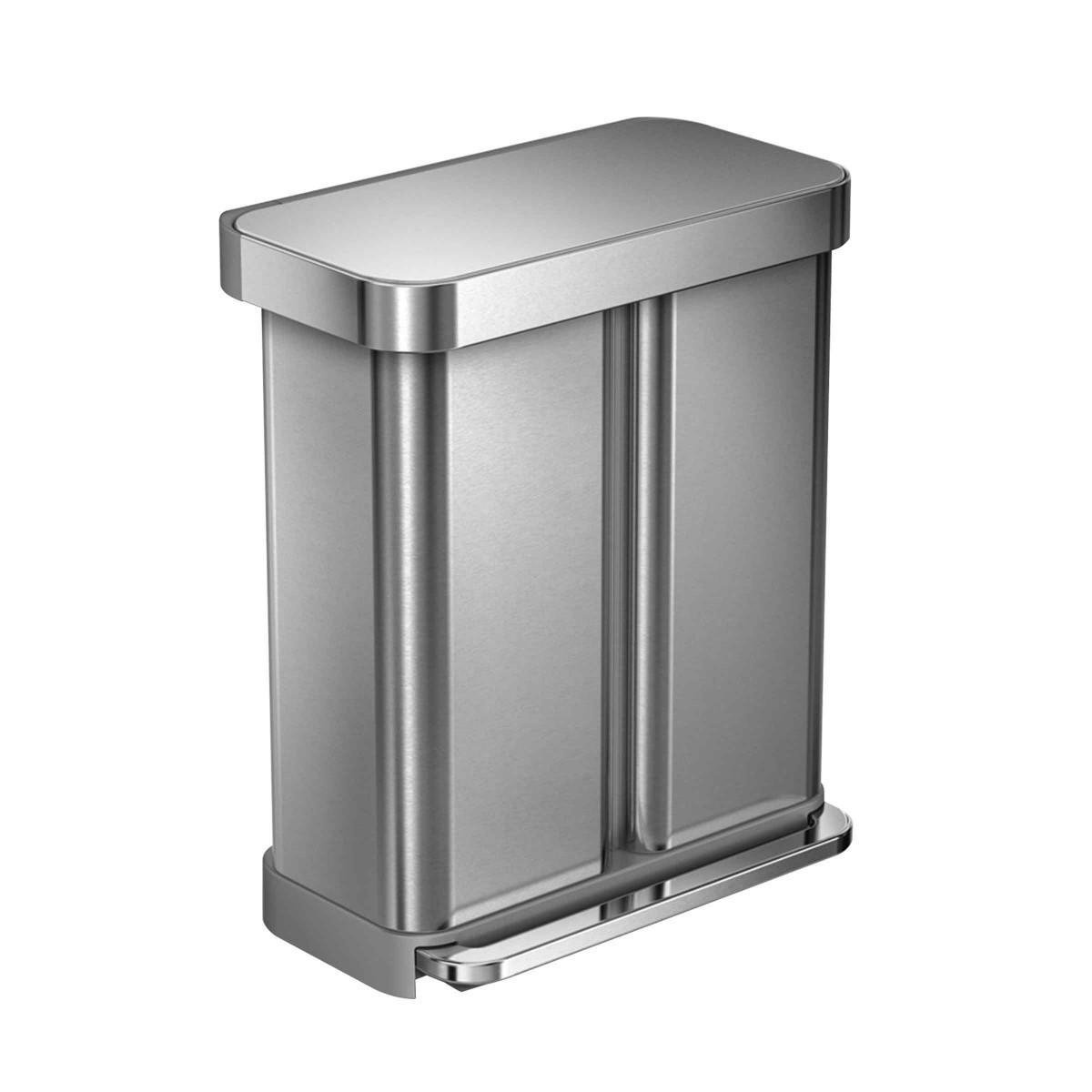 poubelle de tri 2 compartiments 58l. Black Bedroom Furniture Sets. Home Design Ideas