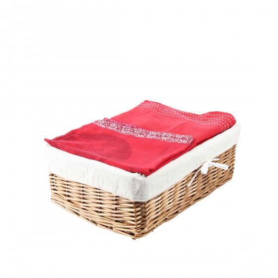 Panier de rangement avec tissu for Ou trouver des paniers en osier