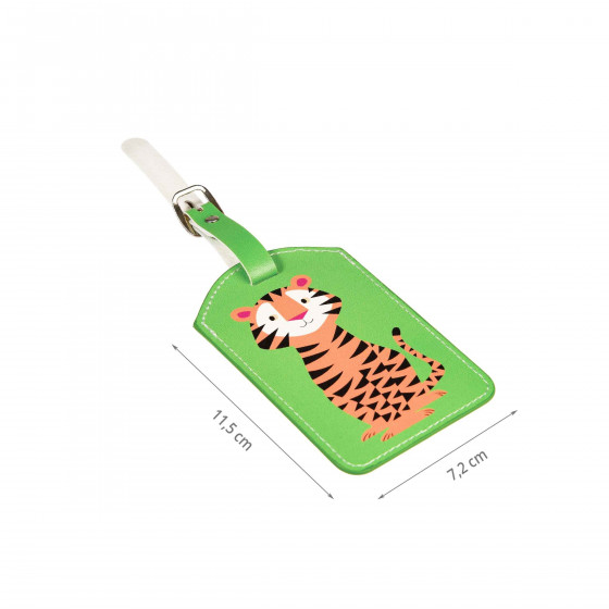 Porte tiquette bagage enfant tigre for Porte valise pour chambre