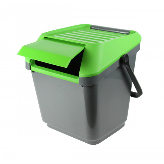 poubelle de recyclage verte empilable tri cuisine. Black Bedroom Furniture Sets. Home Design Ideas