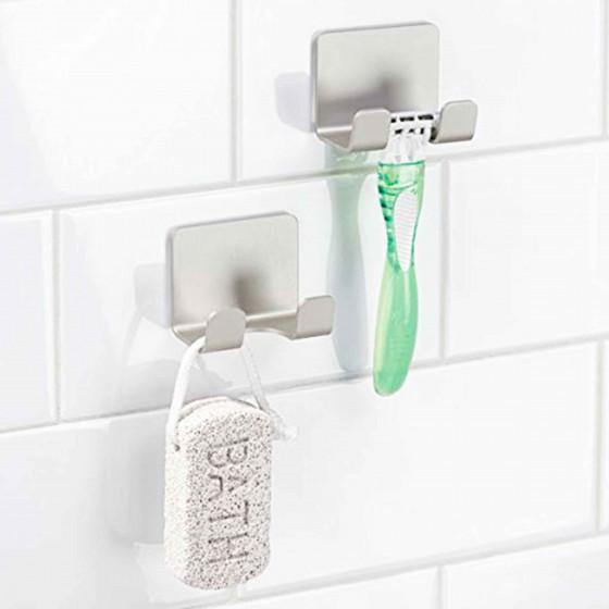 2 crochets double pour salle de bain