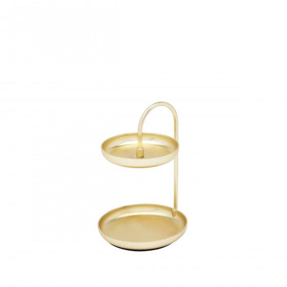 Présentoir à bijoux doré design