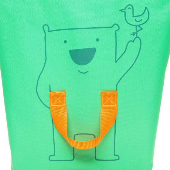 Sac à provisions vert et orange