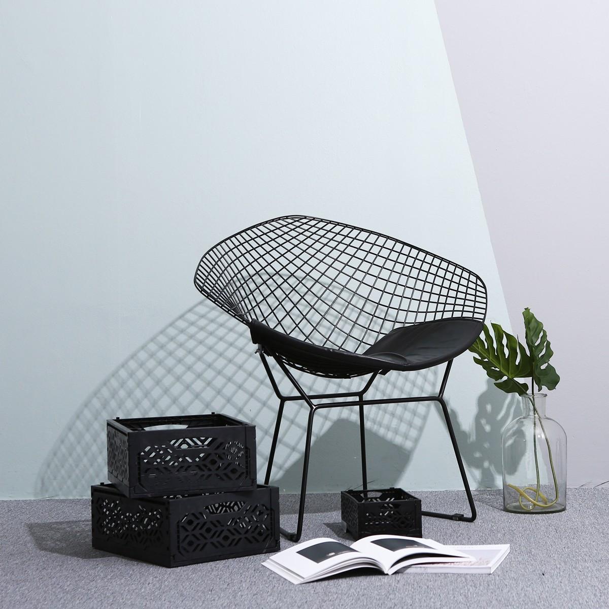 cagette empilable pliable noire cuisine. Black Bedroom Furniture Sets. Home Design Ideas