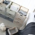 Cagette en plastique gris clair empilable et pliable