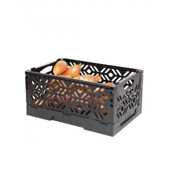 mini cagette noire rangement aliments. Black Bedroom Furniture Sets. Home Design Ideas