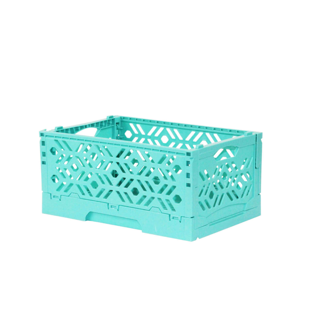 mini cagette turquoise empilable et pliable. Black Bedroom Furniture Sets. Home Design Ideas