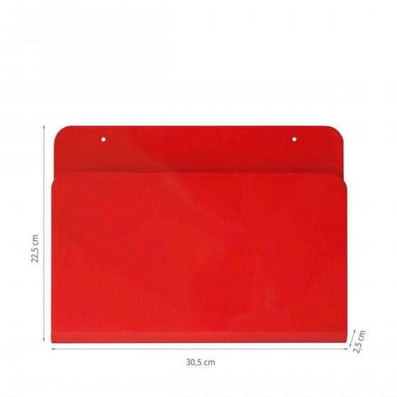 Range-revues mural en métal rouge