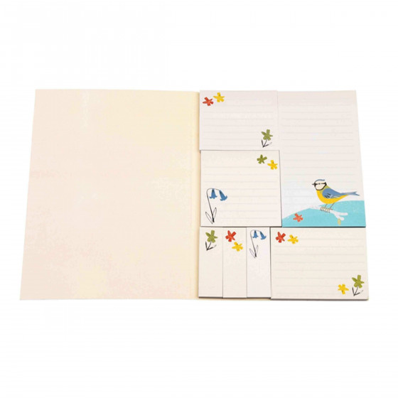 Bloc notes repositionnables motif printemps