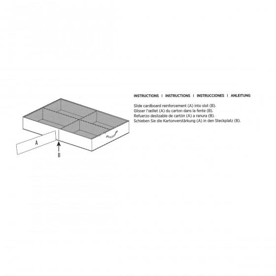 Rangement bottes sous le lit rigide - Tiroir de rangement sous lit ...