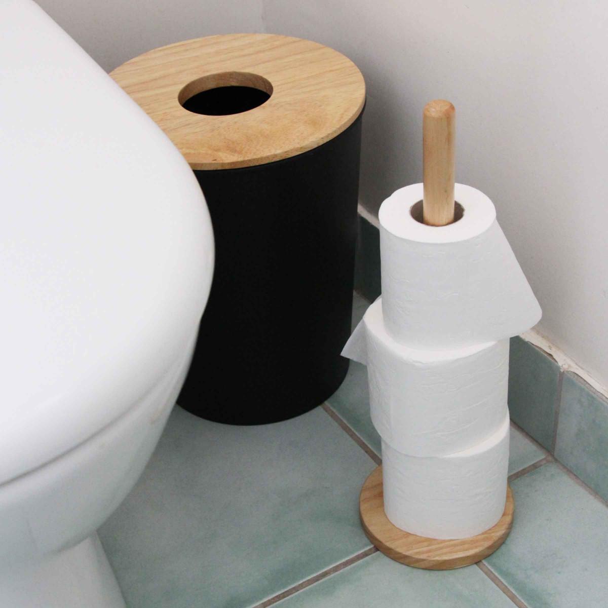 poubelle de salle de bain noire 7 litres. Black Bedroom Furniture Sets. Home Design Ideas