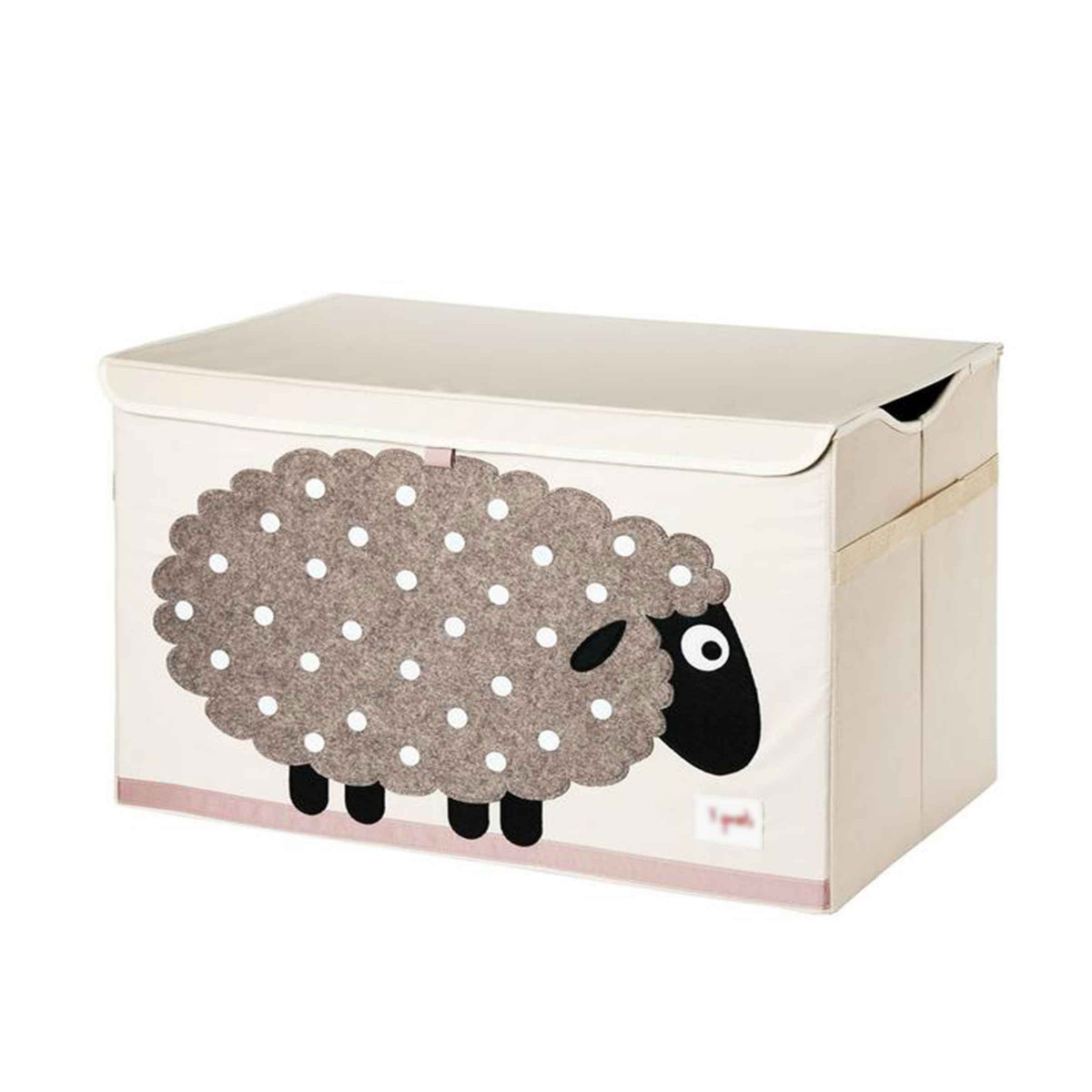 coffre jouets en tissu mouton. Black Bedroom Furniture Sets. Home Design Ideas