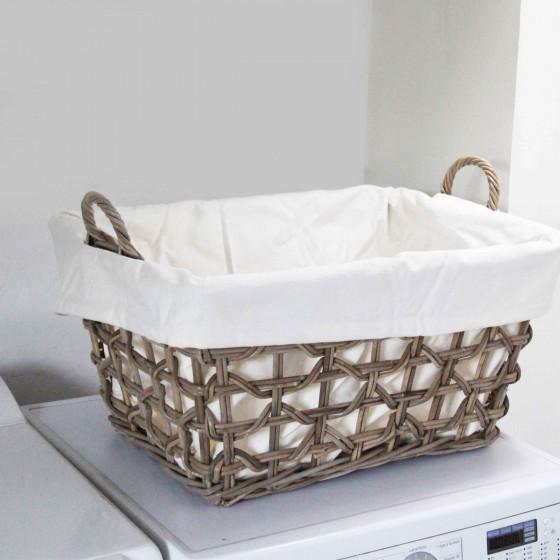 Panier à linge rectangulaire avec coton