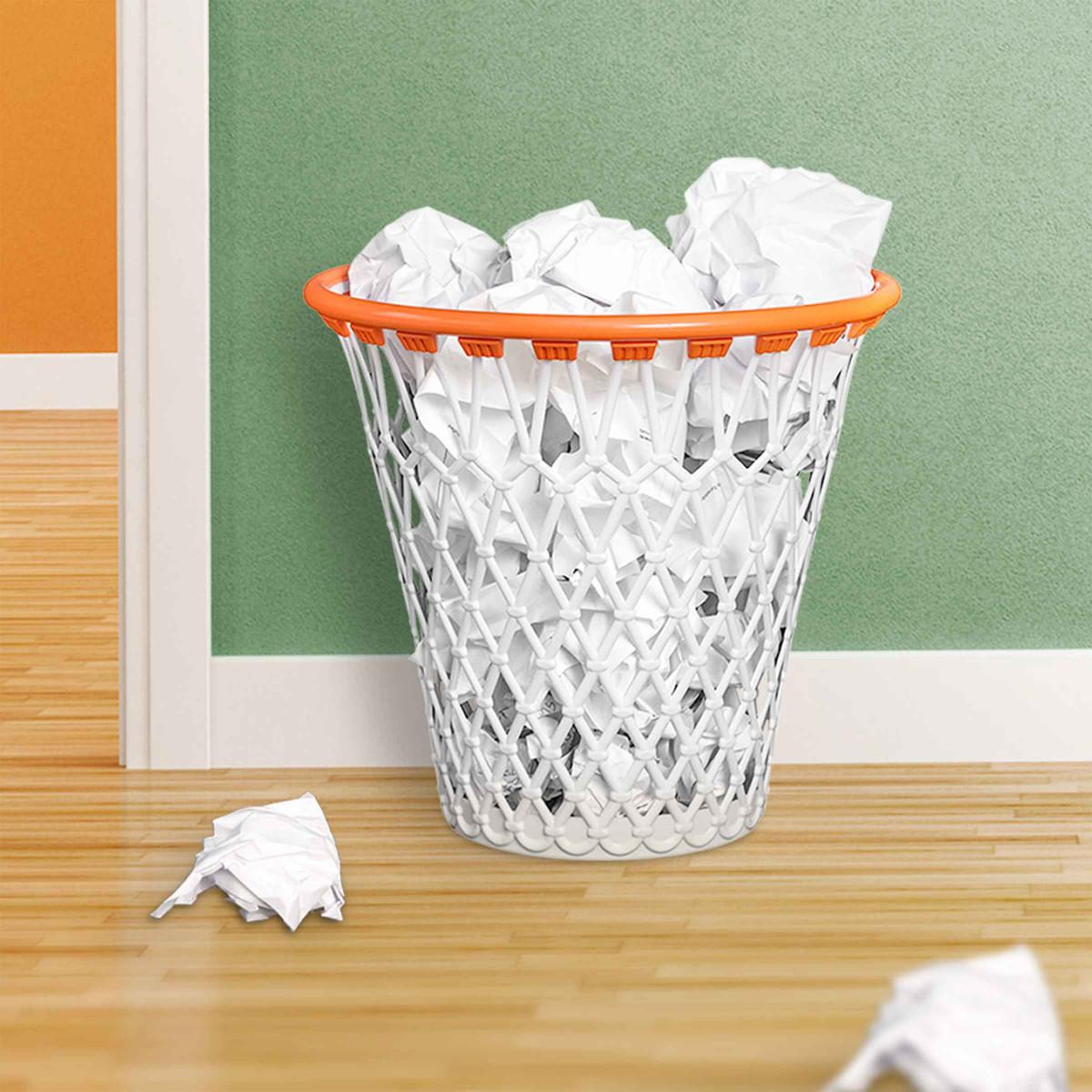Corbeille papier panier de basket id e cadeau for Panier de basket chambre