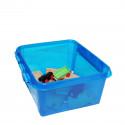 Boîte en plastique bleu