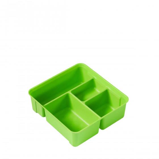 Plateau vert à compartiments