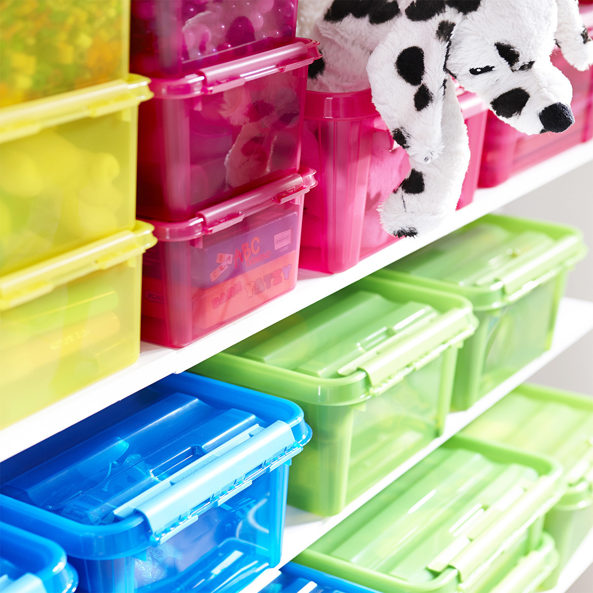 bo te de rangement jouets d 39 enfant rose 28x28x17. Black Bedroom Furniture Sets. Home Design Ideas