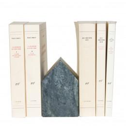 Serre-livres en marbre vert