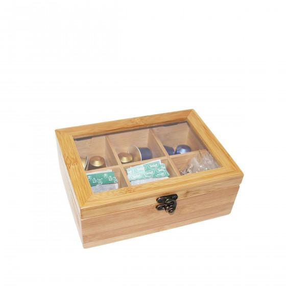 Boîte à thé en bois