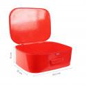 Valise vintage rouge (L)