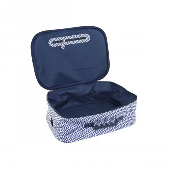 Valise en tissu bleu (M)
