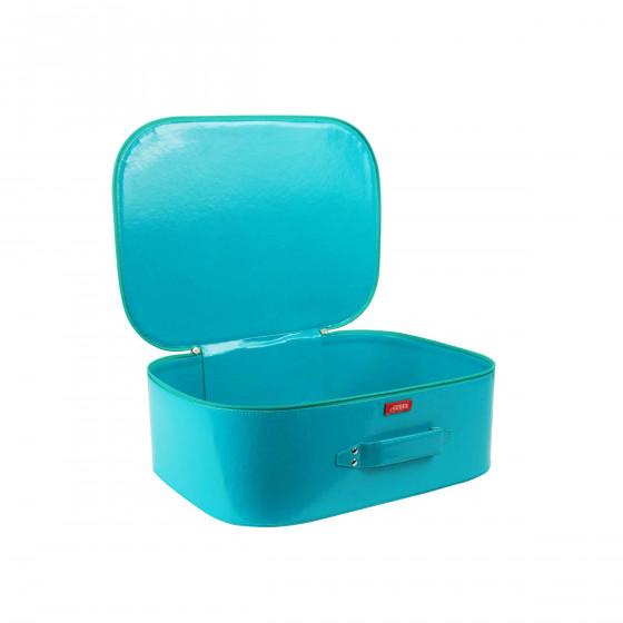 Valisette rigide bleue verte (S)