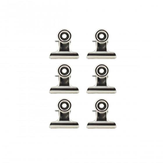 Set de 6 pinces magnétiques