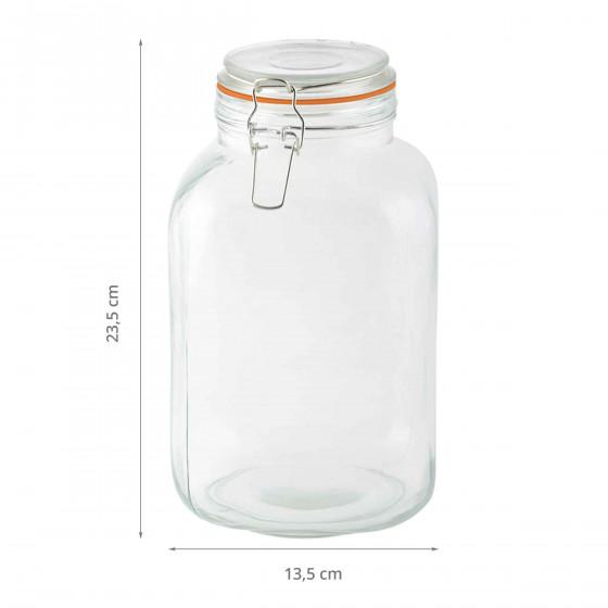 Grand bocal en verre 3 litres