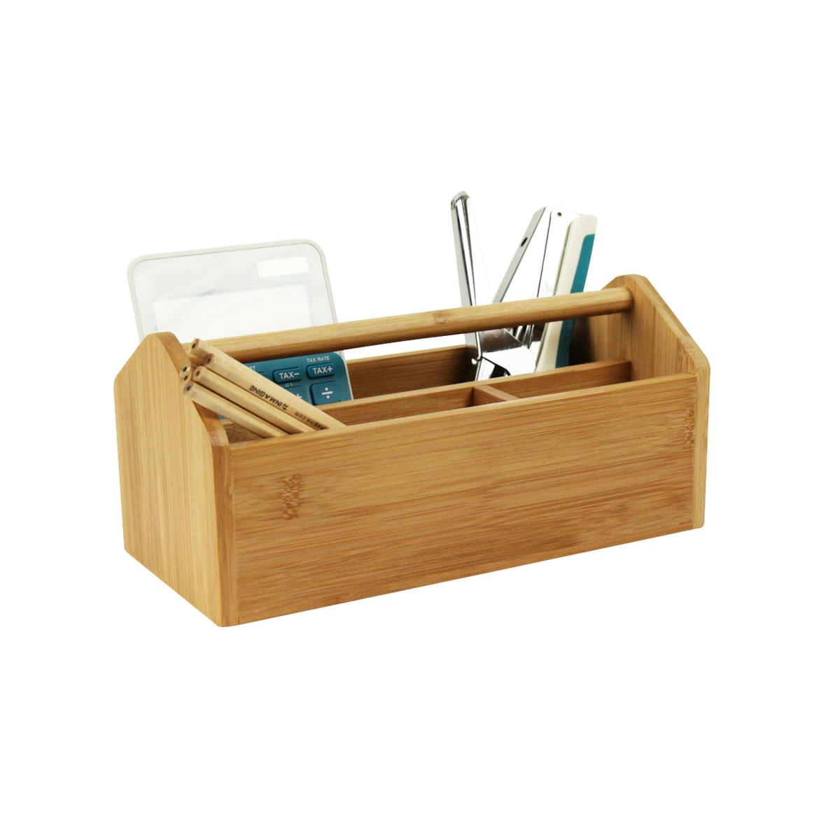 Organisateur de bureau en bois portable - Organisateur de bureau ...