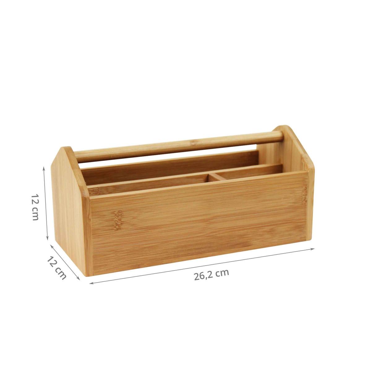 organisateur de bureau en bambou portable. Black Bedroom Furniture Sets. Home Design Ideas