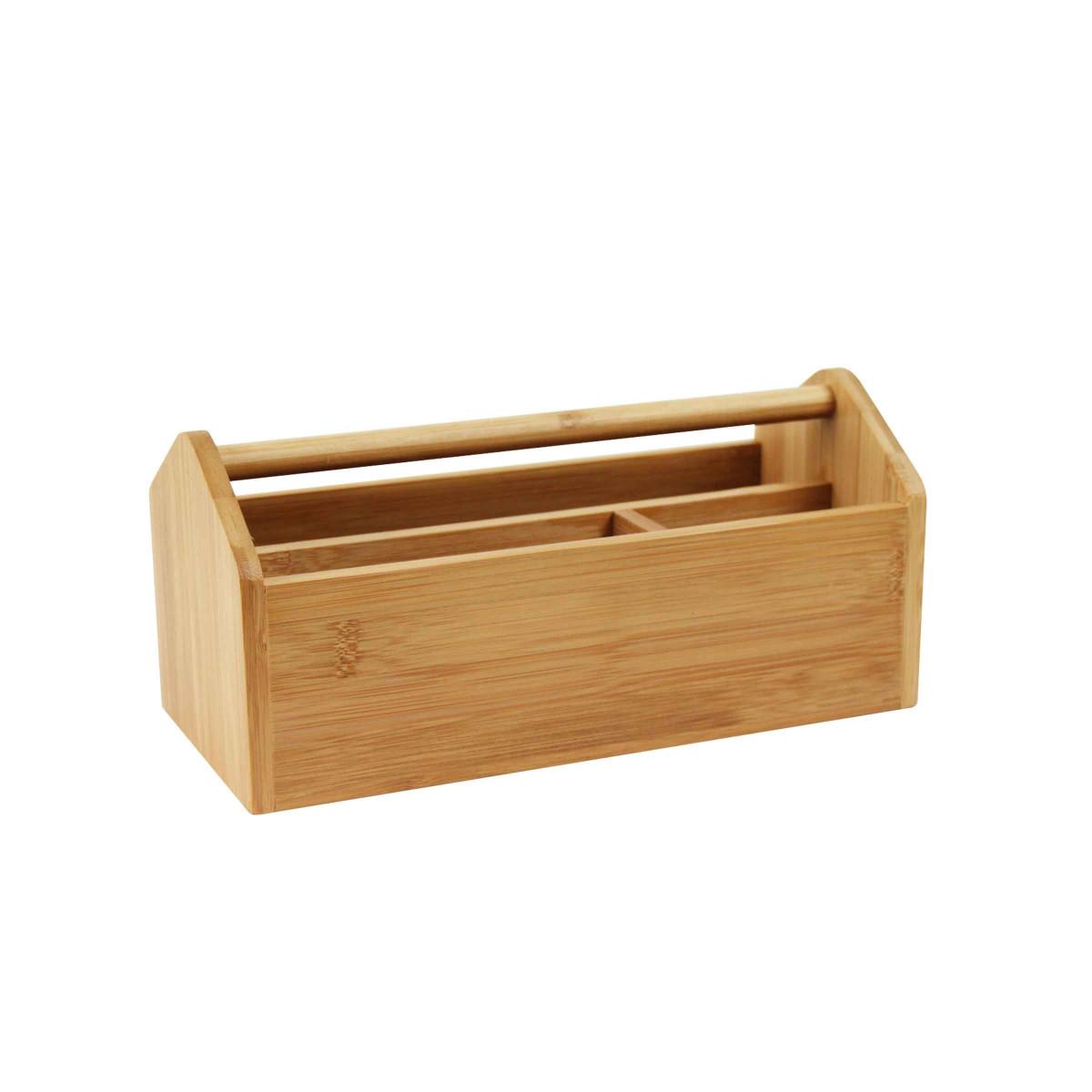 Organisateur de bureau en bambou - Portable on