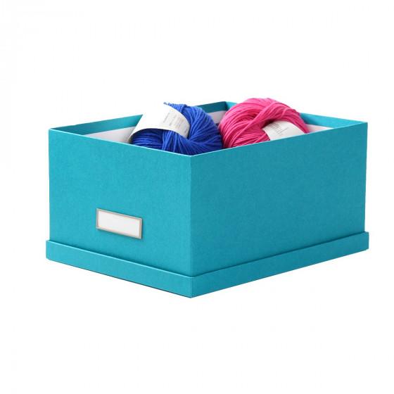 Boîte en carton turquoise