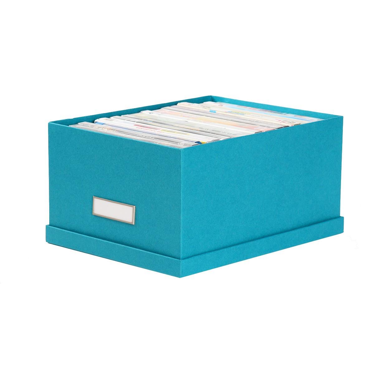 bo te de rangement dvd en carton turquoise. Black Bedroom Furniture Sets. Home Design Ideas