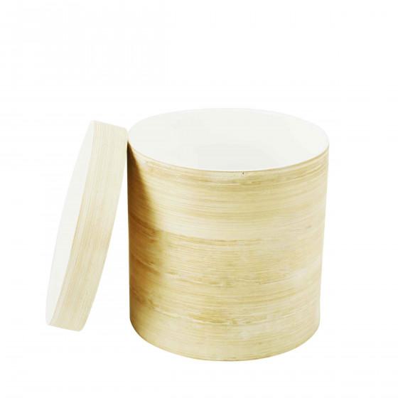 Boîte cylindrique en bambou
