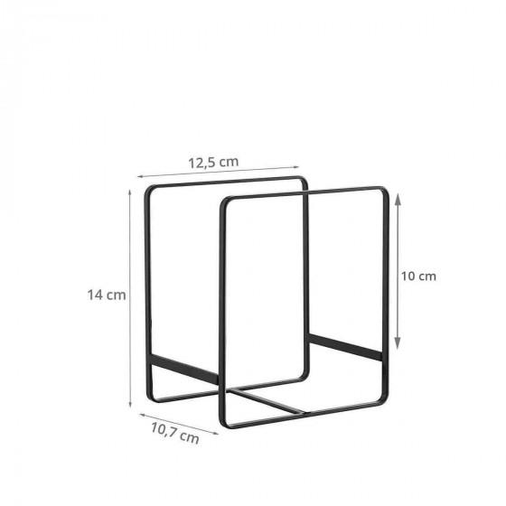 Rangement vertical pour petites assiettes, en métal noir