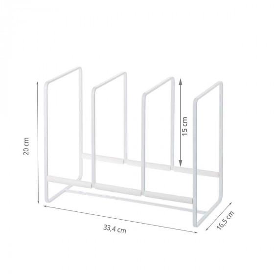 Rangement vertical pour grandes assiettes
