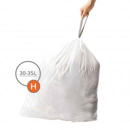 60 sacs pour poubelle à 2 compartiments