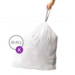 60 sacs poubelles pour poubelle à pédale 40 litres