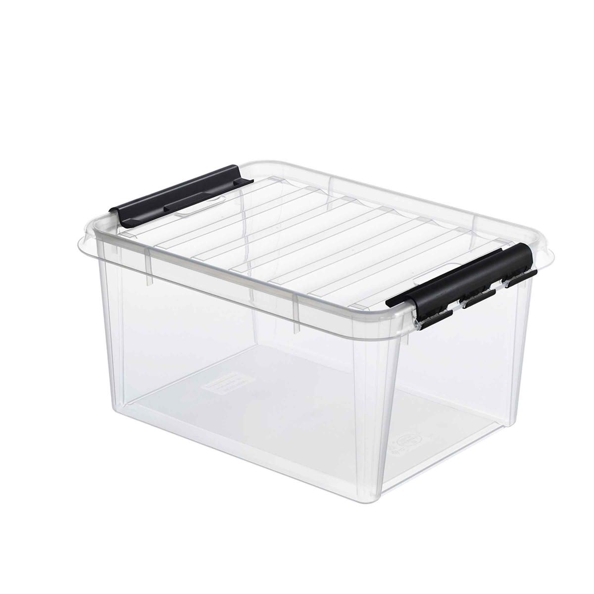 bo te de rangement en plastique avec couvercle 14 litres. Black Bedroom Furniture Sets. Home Design Ideas