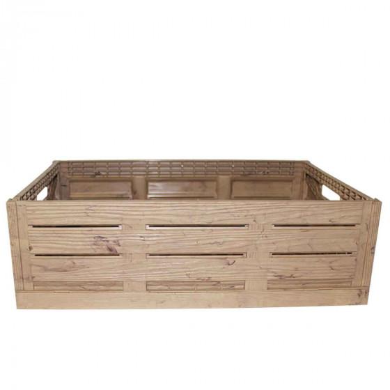 grande caisse imitation bois plastique. Black Bedroom Furniture Sets. Home Design Ideas