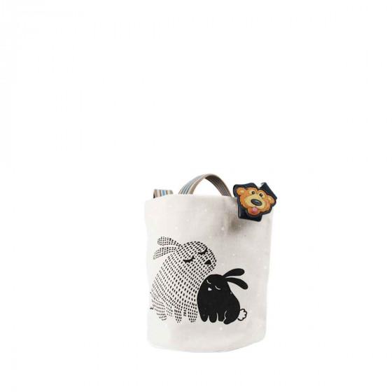 Panier en tissu enfant avec lapins