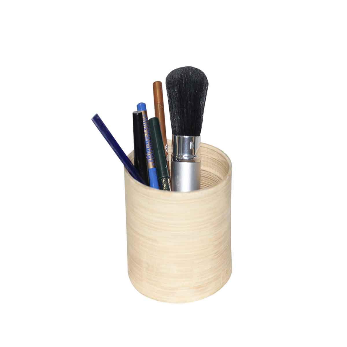 Pot maquillage en bambou naturel - Pot a maquillage ...